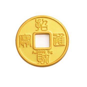 中国黄金  财富金钱 Au9999 1.25克 支持回购